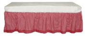 Tadpoles Classic Gingham Crib Skirt - Red