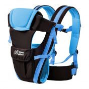ELENKER Adjustable 4 Positions Carrier 3D Backpack Pouch Bag Wrap Soft Structured Ergonomic Sling Front Back Newborn Baby Infant Blue
