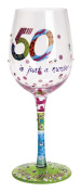 Lolita from Enesco 50 is Just a Number Wine Glass, Multicolor