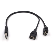 Electop USB 2.0 A Male To 2 Dual USB Female Jack Y Splitter Charger Cable