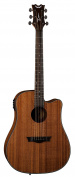 Dean Guitars AX DCE MAH AXS Dreadnought Cutaway Acoustic-Electric Guitar, Mahogany