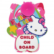 Hello Kitty Child On Board Car Sign