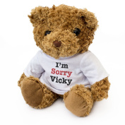 NEW - I'M SORRY VICKY - Teddy Bear - Cute Soft Cuddly - Gift Present Apology