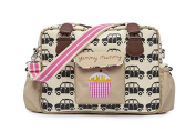 Pink Lining Yummy Mummy Baby Changing Nappy Bag - Black Cabs
