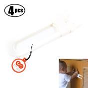 Set of 4 Baby Sliding Cupboard Drawer Cabinet Safety Blocking Door U Lock
