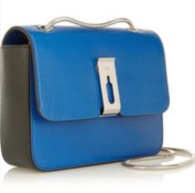 Anya Hindmarch Albion Small Shoulder Leather Bag Cobalt Blue RRP £725.00