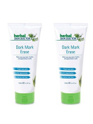 (Pack of 2) Herbal Skin Doctor Dark Mark Erase Cream- 100ml Fades away Age Spots and Freckles, Smoothes Pigmentation and helps improve skin tone