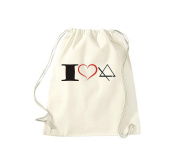 T-Shirt Stown Gym Bag Music I Love Triangle Triangle
