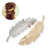 Wenmei Leaf Shaped Hair Clip Pin Claw Headwears Hair Accessories Pack of 2