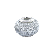 Baci Belli - Bead Silver 925/1000 Silver and Grey. Crystals