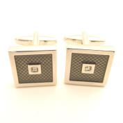 Grey Stone Square Cufflinks by Van Buck