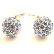 Blue Crystal Balls Cufflinks by Van Buck