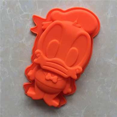 YL Donald Duck G024 Silicone Cake Baking Mould Cake Pan Muffin Cups Handmade Soap Moulds Biscuit Chocolate Ice Cube Tray DIY