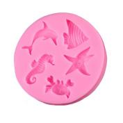 1 Pcs Sea Animal Shape 3D Silicone Cake Mould Tools Soap Chocolate Candy Jello Fondant Mould Kitchen Baking Cake Tools