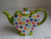 Ceramic Heart Teapot Dots 1857 0.7 L
