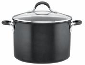 Circulon Momentum Covered Stockpot, Hard-Anodized Aluminium, Black, 24 cm