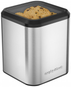 Morphy Richards 970253 Biscuit Barrel, Stainless-Steel, Silver