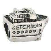 Ketchikan Alaska Cruise Ship 925 Sterling Silver Charm Travel Bead Fit European Charm Bracelets