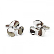 Mens Shirt Accessories - Ships Propellor Cufflinks (With Black Presentation Box) - Novelty Transport Theme Jewellery