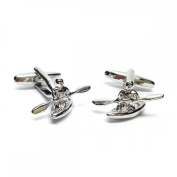 Mens Shirt Accessories - Canoe Cufflinks (With Black Presentation Box) - Novelty Transport Theme Jewellery