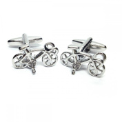 Mens Shirt Accessories - Racing Bike Cufflinks Racing Cycle (With Black Presentation Box) - Novelty Transport Theme Jewellery
