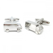 Mens Shirt Accessories - Engravable Lorry truck Cufflinks (With Black Presentation Box) - Novelty Transport Theme Jewellery