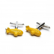 Mens Shirt Accessories - Yellow Submarine U Boat Cufflinks (With Black Presentation Box) - Novelty Transport Theme Jewellery