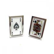 Mens Shirt Accessories - Blackjack Cufflinks (With Black Presentation Box) - Novelty Casino Theme Jewellery