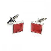 Mens Shirt Accessories - Diamonds Card Suit Cufflinks (With Black Presentation Box) - Novelty Casino Theme Jewellery