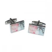 Mens Shirt Accessories - £50 Note Cufflinks (With Black Presentation Box) - Novelty Casino Theme Jewellery