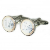Mens Shirt Accessories - Euro Coin Cufflinks (With Black Presentation Box) - Novelty Casino Theme Jewellery