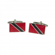 Mens Shirt Accessories - Trinidad And Tobago Flag Cufflinks (With Black Presentation Box) - Novelty World Flag Theme Jewellery