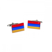 Mens Shirt Accessories - Armenia Flag Cufflinks (With Black Presentation Box) - Novelty World Flag Theme Jewellery