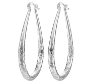 Smile YKK 925 Sterling Silver Women Fashion Teardrop Hoop Dangle Earrings