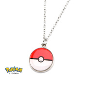Official Pokemon Poke Ball Stainless Steel Small Charm Pendant Necklace and Chain