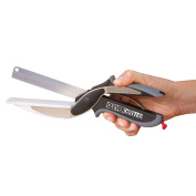 JML Clever Cutter Kitchen Knife & Cutting Board Chopper Scissors for Fruit Vegetables & More