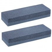 2 x CrazyGadget® Aluminium Oxide Double Sided Fine Medium Grit Combination Sharpening Whetstone Stone for Knife