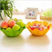 AsentechUK® Thicken Plastic Flower Shaped Fruit Snacks Plate Vegetable Dish Bowl Kitchen Living Room Supplies