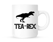 Tea-Rex (T-Rex) Silhouette Design - Fun Novelty Tea/Coffee Mug/Cup - Great Gift Idea