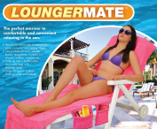 ViVo© Lounger Mate Beach Towel Sun Lounger For Holiday Garden Lounge with Pockets - Pink