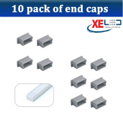 10 x Extra End Caps to suit Mini U-Line Aluminium Profile
