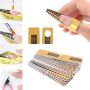 LHWY 100Pcs Nail Art Tips Extension Forms Guide French DIY Tool Acrylic UV Gel