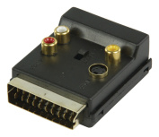 Valueline Switchable SCART Male to Female AV Adapter - Black