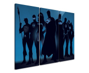 3-Piece Canvas Picture dc_heroes_3 x 90 x 40 CM, Total Size 120 x 90 CM _ausführung Beautiful print finishing on real canvas as A Wall Picture on Stretcher Frame
