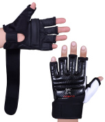 Islero Leather GEL Gloves MMA Boxing Punch Bag Martial Arts Karate Mitts