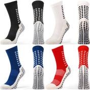 Anti Slip Football Socks, Non Slip Sports Socks, Rubber Pads, Top Quality, Basketball, Soccer, Hiking, Running