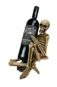 Gothic Skull Skeleton Wine Bottle Holder
