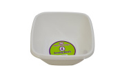 12 x WHITE PLASTIC DISPOSABLE SQUARE SERVING BOWLS PLATTER- 15cm Great for serving sharing and snacks.