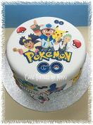Edible Icing POKEMON GO Cake Decorations *PRECUT* No Cutting EASY PEEL