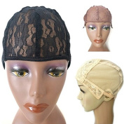 Wig Caps for Making Wigs Stretch Lace Weaving Cap Adjustable Straps DIY Wig Medium Size